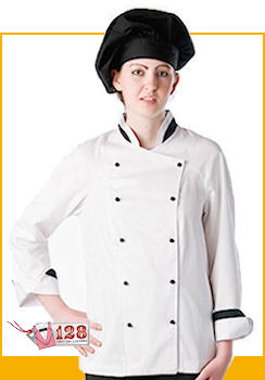 : GIACCA LADY CHEF BIANCA BORDATA